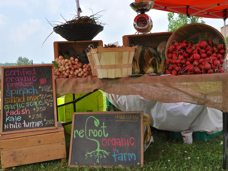 Reroot Organic Farm stand